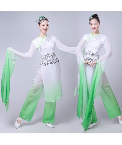 Yangko Folk Dance Ancient Costumes Traditional Chinese Hanfu Women New Year Wedding Party Festival Stage Performance Clothing|Chinese Folk Dance|   - Coolcncn