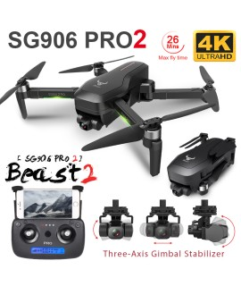 ZLRC Beast SG906 Pro 2 Brushless Motor with 3 Axis Gimbal GPS 5G WIFI FPV Professional 4K Camera RC Drone Quadcopter Dron PRO2|Camera Drones|   - Coolcncn