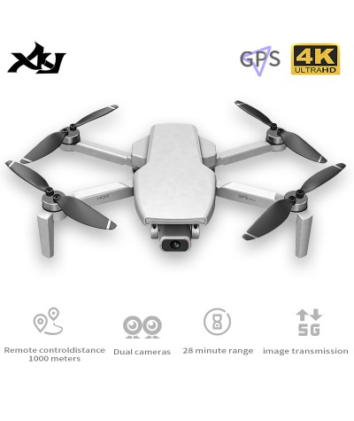 XKJ Gps Drone HD 4K Camera Professional 800m Image Transmission Brushless Motor Foldable Quadcopter RC Drones Kid Gift|RC Quadcopter|   - Coolcncn
