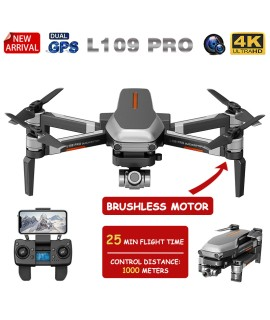 XKJ New GPS Drone L109 PRO Brushless Motor Drone With 4K HD Dual Camera Professional Foldable Quadcopter 1000M RC Distance Toy|RC Helicopters|   - Coolcncn