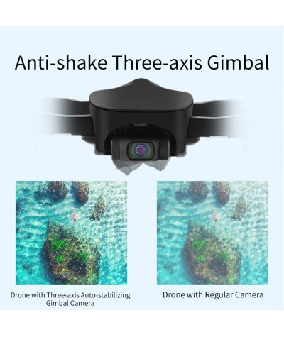 XKJ New GPS Drone With 4K HD Camera 5G WiFi 1200M Image Transmission Distance Professional Brushless Motor Foldable Quadcopter|RC Quadcopter|   - Coolcncn