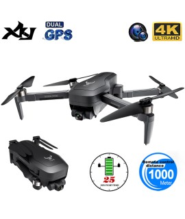 XKJ New Professional GPS Drone 5G WIFI FPV Anti Shake Self Stabilizing Gimbal 4K Camera Brushless Motor RC Foldable Quadcopter|RC Helicopters|   - Coolcncn