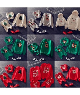 19 Color Family Look Clothes Tree Deer Matching Outfits Christmas Sweater Shirt Father Mother Daughter Mom Me Kid Clothing|Matching Family Outfits|   - Coolcncn