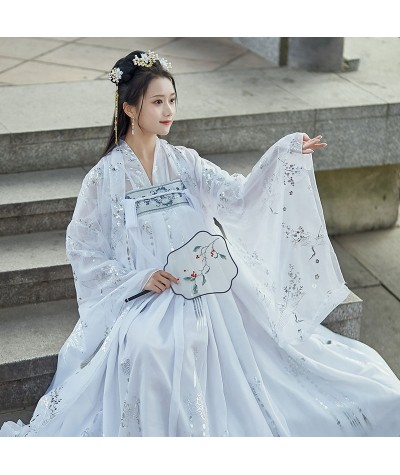 XinHuaEase Hanfu Women Large Plus Size Chinese Traditional Dress Dance Fairy Costume Cosplay Female Princess Clothing Carnival| |   - Coolcncn