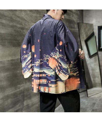 Yukata haori men Japanese kimono cardigan men samurai costume clothing kimono jacket mens kimono shirt yukata haori FF2022|Asia & Pacific Islands Clothing|   - Coolcncn