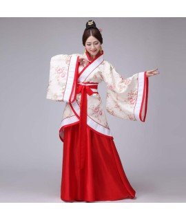 12Colors Woman Stage Dance Dress Chinese Traditional Costumes New Year Adult Tang Suit Performance Hanfu Female Cosplay|Chinese Folk Dance|   - Coolcncn