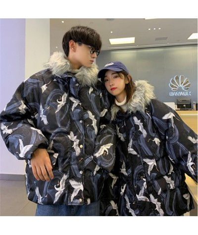 Yukata Fashion Japanese Harajuku Style Asian Winter Kimono Warm Wear Jacket Printing Cotton Clothing Thick Fur Stand Coat Couple|Asia & Pacific Islands Clothing|   - Coolcncn