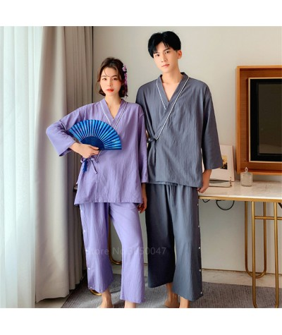 Yukata Japanese Style Kimono Clothes Pajamas Bathrobe Homeware Cotton Sleep for Adult Summer Clothing Set Fashion for Couple New|Asia & Pacific Islands Clothing|   - Coolcncn