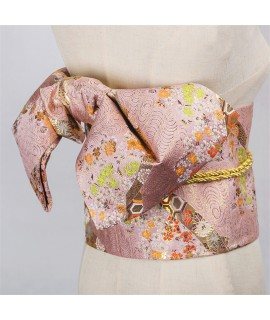 14Colors Traditional Japanese Yukata Kimono Obi Belt Floral Print Cummerbunds Bow knot Noble Retro Japanese Waistband|Asia & Pacific Islands Clothing|   - Coolcncn