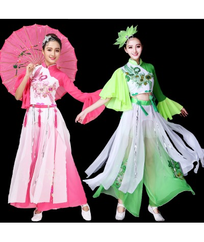 Yangko Dance Costumes  Summer Traditional Chinese Clothing Women Ancient Chinese Style Dancewear Folk Dance Costume Fan Dance|Chinese Folk Dance|   - Coolcncn
