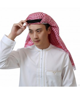 138*138cm Man Muslim Arabic Various Head Scarf Keffiyeh Square Plaid Male Islamic Hijab Ramadan Saudi Arab Headband Accessories|Islamic Clothing|   - Coolcncn