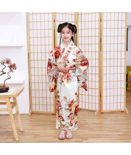 120 150cm Princess Kids Girls Japanese Traditional Kimono Dress Floral Bathing Yukata with Obi Bow Luxury Performance Clothing|Asia & Pacific Islands Clothing|   - Coolcncn