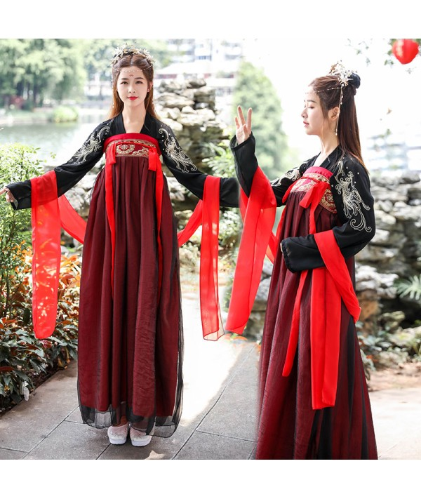 Women's Ancient Elegant Hanfu Dress Traditional Folk Dance Princess Fairy Dress Embroidery Oriental Tang Suit Cosplay Costume| |   - Coolcncn