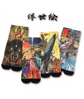 17Colors 2020 Ukiyo e Men Japanese Style Geta Socks Vintage Haori Carp Samurai Geisha Fashion Woman Fancy Gift Kimono Clothes|Asia & Pacific Islands Clothing|   - Coolcncn