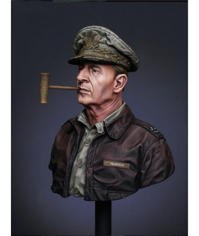 1/10 Bust Resin Figure Model Kit MacArthur Unassembled unpainted Top|Model Building Kits|   - Coolcncn