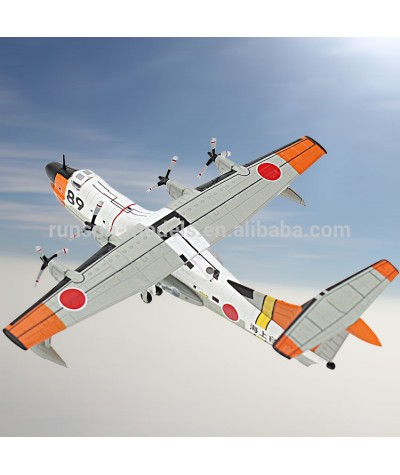1/250 Scale Diecast Military   Plane JMSDF Shin Meiwa US 1 Air sea Rescue Amphibian Aircraft Airplane Model Toy for Collection