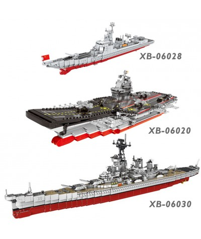 XINGBAO NEW Military Army Ship Series Classic USS Missouri Battleship Missile Destroyer Building Blocks Vessel Bricks Juguetes|Blocks|   - Coolcncn