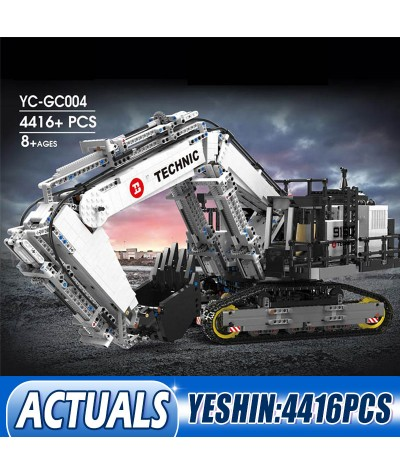 Yeshin Technic Car Model Compatible With 42100 Liebherrs R 9800 Excavator Building Blocks Bricks Funny Kids Christmas Toys Gifts|Blocks|   - Coolcncn