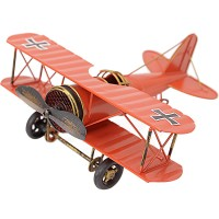 Zakka Vintage Retro Iron Aircraft Airplane Model Metal Home Decoration Military Craft Gift Biplane Cabinet Toys for Boy YWZL02