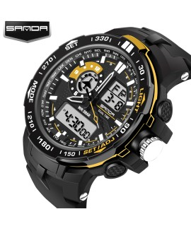 2017 New S Shock Men Sports Watches Sanda Quality Digital Analog Display Alarm 30M Waterproof Military Relogio Masculino|masculinos relogios|relogio masculino s shockmasculino watch - Coolcncn