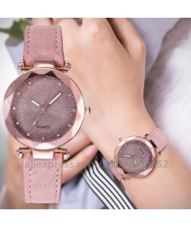 100pcs/lot Simple Women Watches Romantic Fashion Wrist Watch Designer Clock Simple Casual Lady Starry Sky Montre Femme|Women's Watches|   - Coolcncn