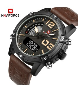 2018 NAVIFORCE Men's Fashion Sport Watches Men Quartz Analog Date Clock Man Leather Military Waterproof Watch Relogio Masculino-in Quartz Watches from Watches on Coolcncn.com |