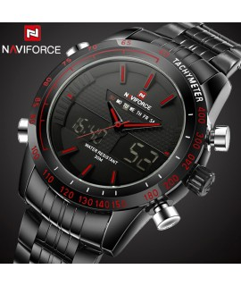 2016 Top Luxury Brand Naviforce Waterproof Date Clock Male Steel Swim Quartz Men Sport Wrist Watch