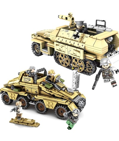 WW2 395PCS German KFZ.251 armored vehicle Building Block Military Weapon Solider Figures Bricks Toy Gifts for Children|Blocks|   - Coolcncn
